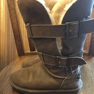 BearPaw suede and fleece boots. In great shape!